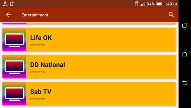 All India TV Channels HD screenshot 7