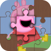 Peppa and Pig puzzle icon