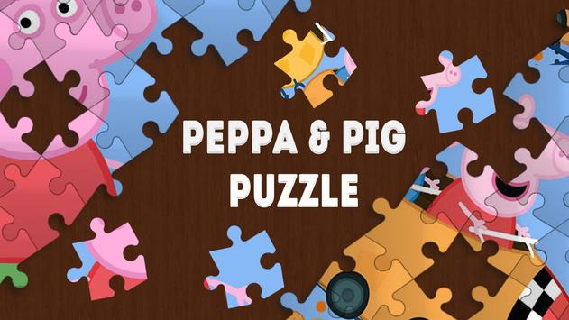 Peppa and Pig puzzle poster