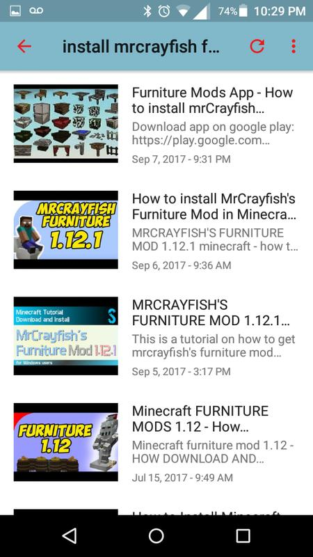minecraft furniture crafting