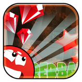 Cool Red ball icon