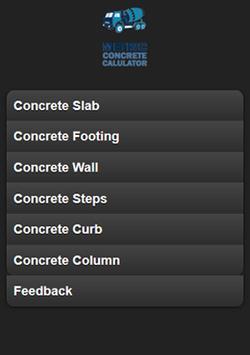Metric Concrete Calculator poster