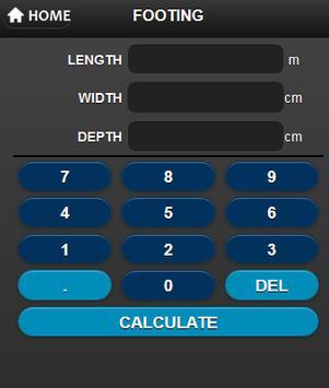 Metric Concrete Calculator screenshot 1