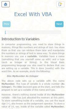 Learn Offline Macros Excel VBA apk screenshot