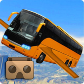 Futuristic Flying Bus VR icon