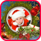 Christmas card photo maker icon