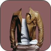 Man modern suits photo maker icon