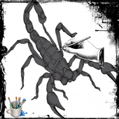 How To Drawing Scorpion icon