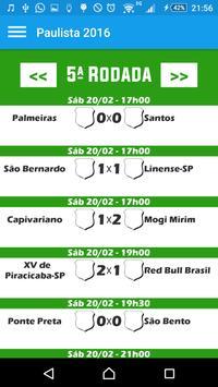 Futebol Paulista 2016 apk screenshot