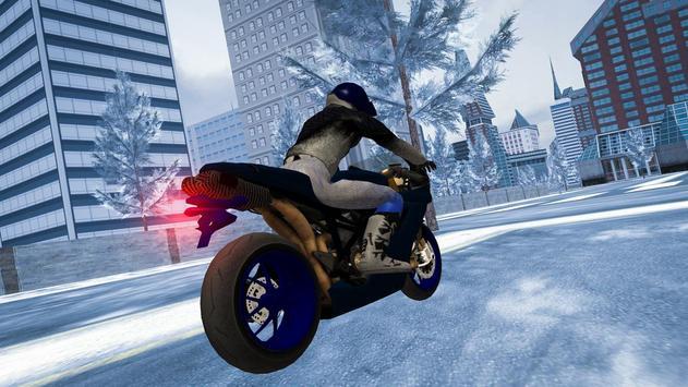 Snow Bike Rider City Madness poster