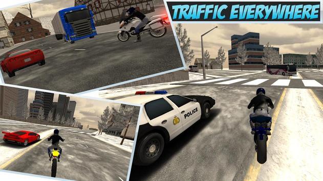 Snow Bike Rider City Madness apk screenshot