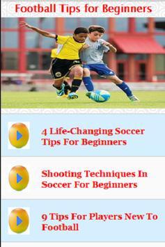 Football Tips for Beginners poster