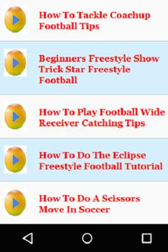 Football Tips for Beginners screenshot 1