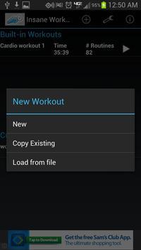 Insane Workout Trainer (Free) apk screenshot