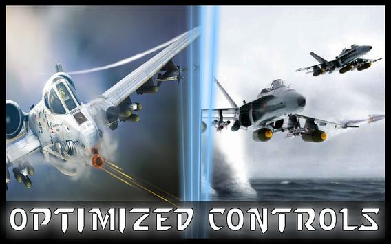 Fly F18 Jet Fighter Airplane 3D Free Game Attack screenshot 3