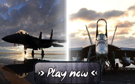 Fly F18 Jet Fighter Airplane 3D Free Game Attack screenshot 4