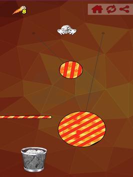 Paper Ball Tossing Flip Throwing to Bin Game screenshot 8