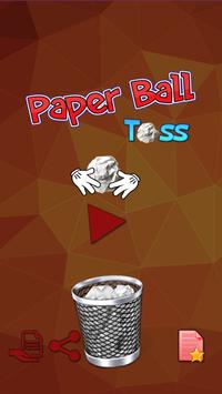 Paper Ball Tossing Flip Throwing to Bin Game poster