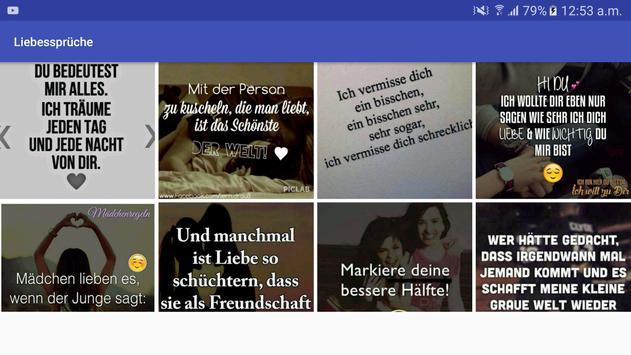 Liebessprüche apk screenshot