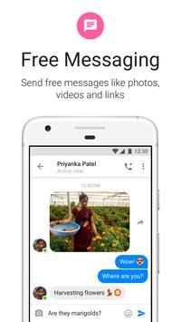 Messenger Lite: llamadas y mensajes gratuitos captura de pantalla de la apk