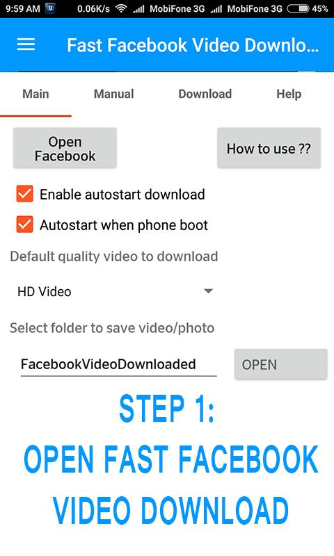 Fast Facebook Video Downloader for Android - APK Download