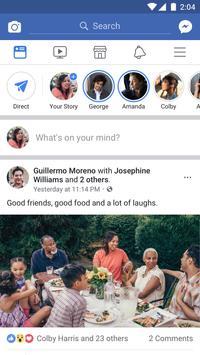 Facebook الملصق