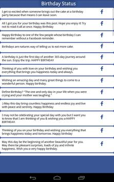 Best Facebook Status & Quotes apk screenshot