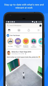 Workplace by Facebook apk تصوير الشاشة