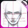 ikon tutorial menggambar wajah