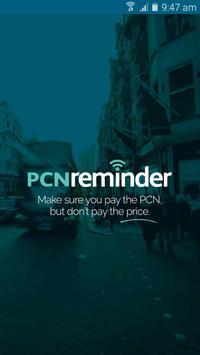 PCN Reminder poster
