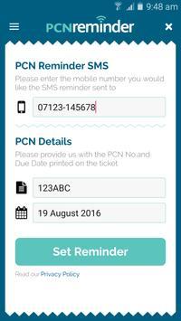 PCN Reminder apk screenshot