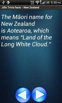 Jill Trivia facts: New Zealand poster