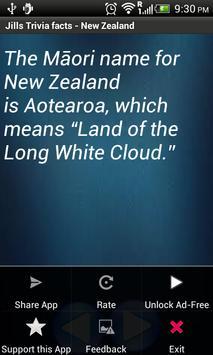 Jill Trivia facts: New Zealand screenshot 1