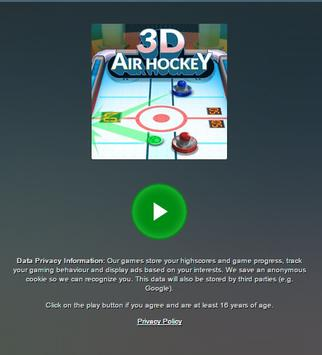 3D Air Hocket HTML 5 Game poster
