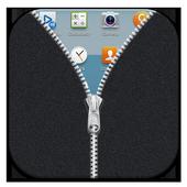 Fabric Grey Zipper Lock Free icon