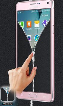 Fabric Grey Zipper Lock Free apk screenshot