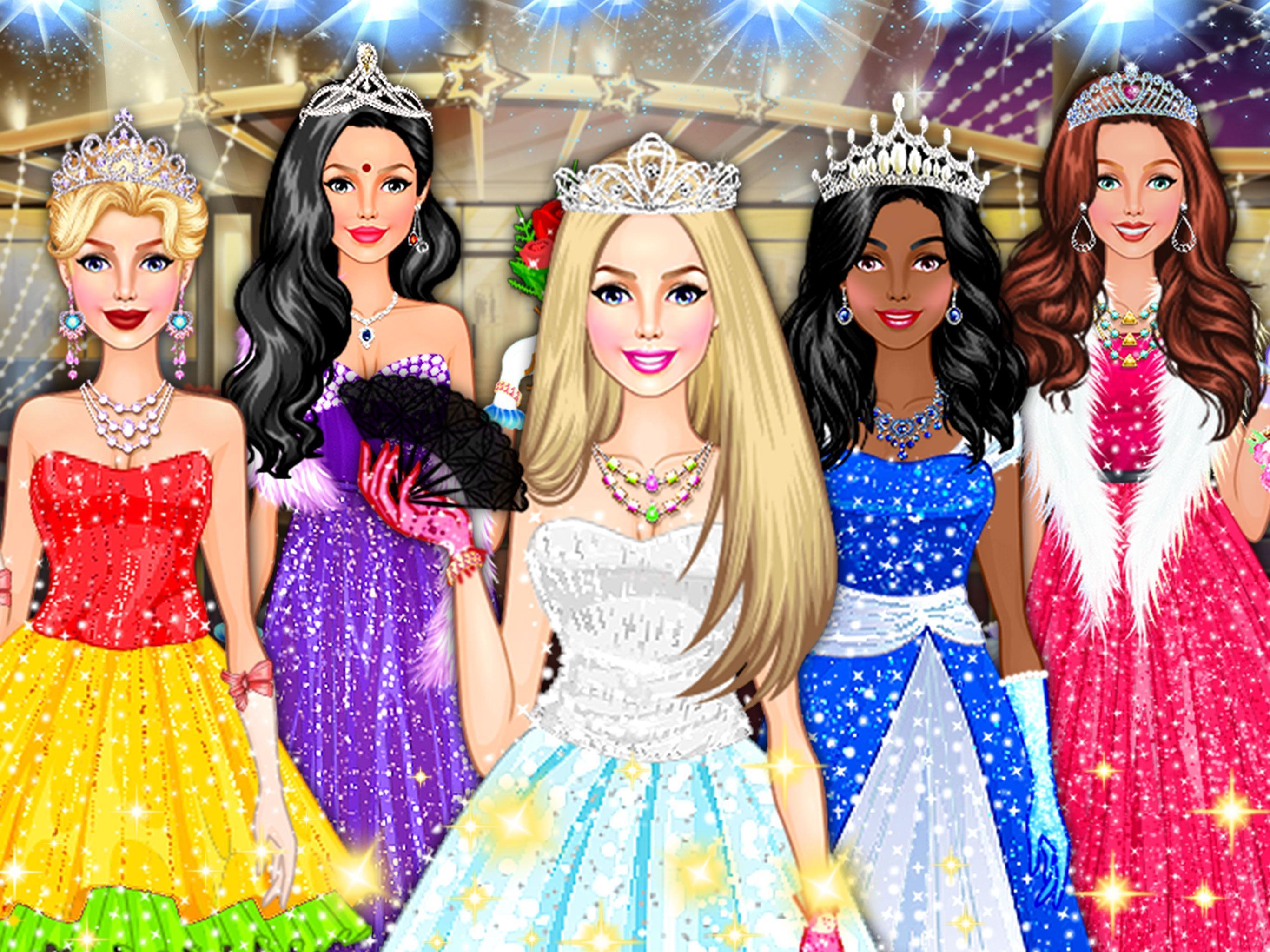 Juegos De Vestir De Reina De La Moda Para Niñas For Android