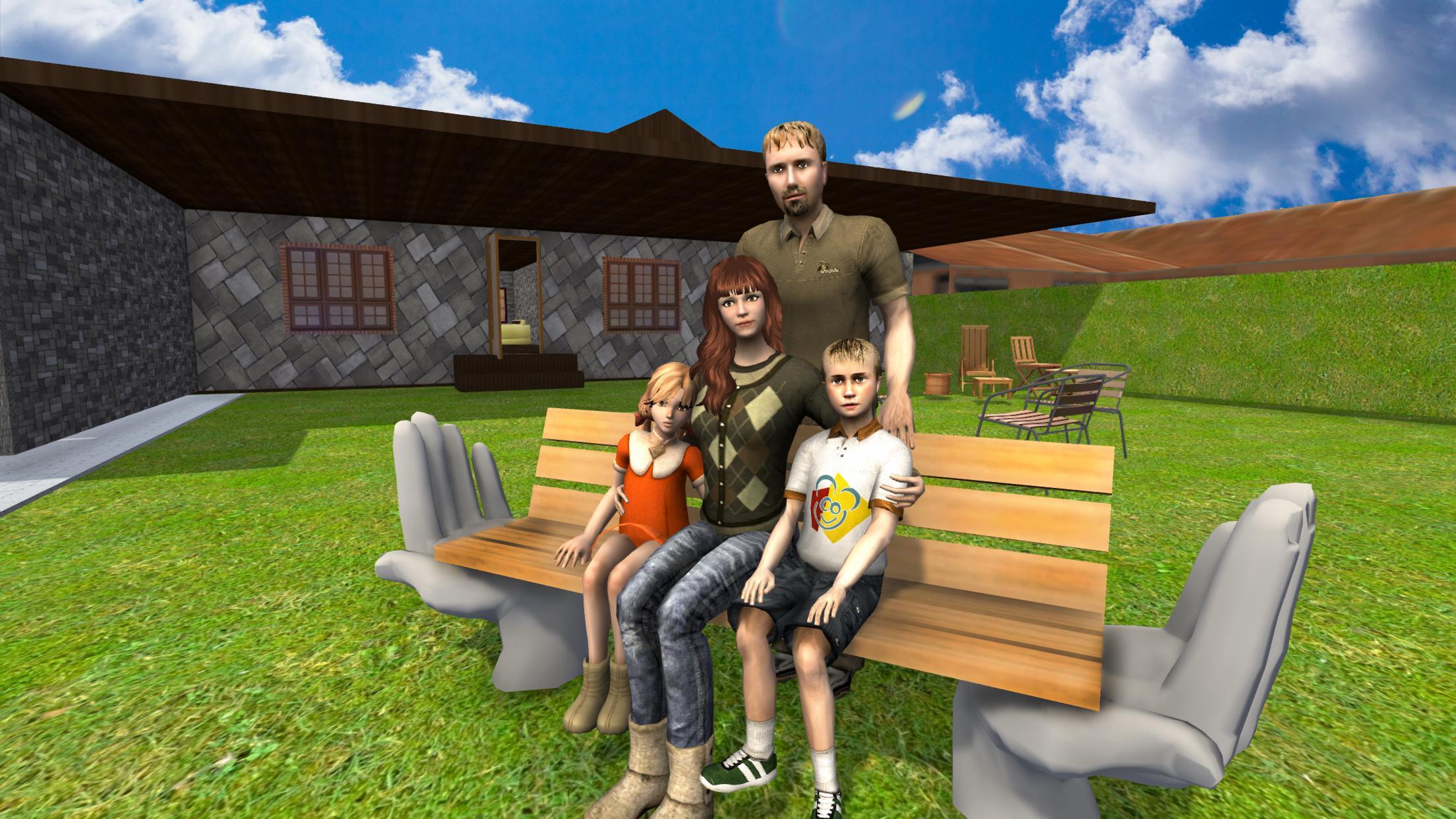 Картинка виртуальная семья