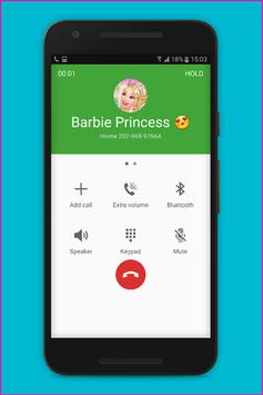 Fake Call Barbie Princess screenshot 1
