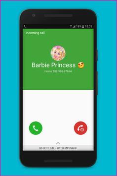 Fake Call Barbie Princess screenshot 2