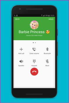 Fake Call Barbie Princess screenshot 5