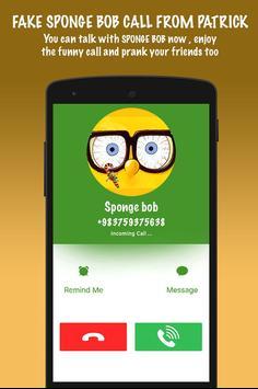 Fake Sponge bob Call From Patrick screenshot 2
