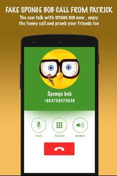 Fake Sponge bob Call From Patrick screenshot 3