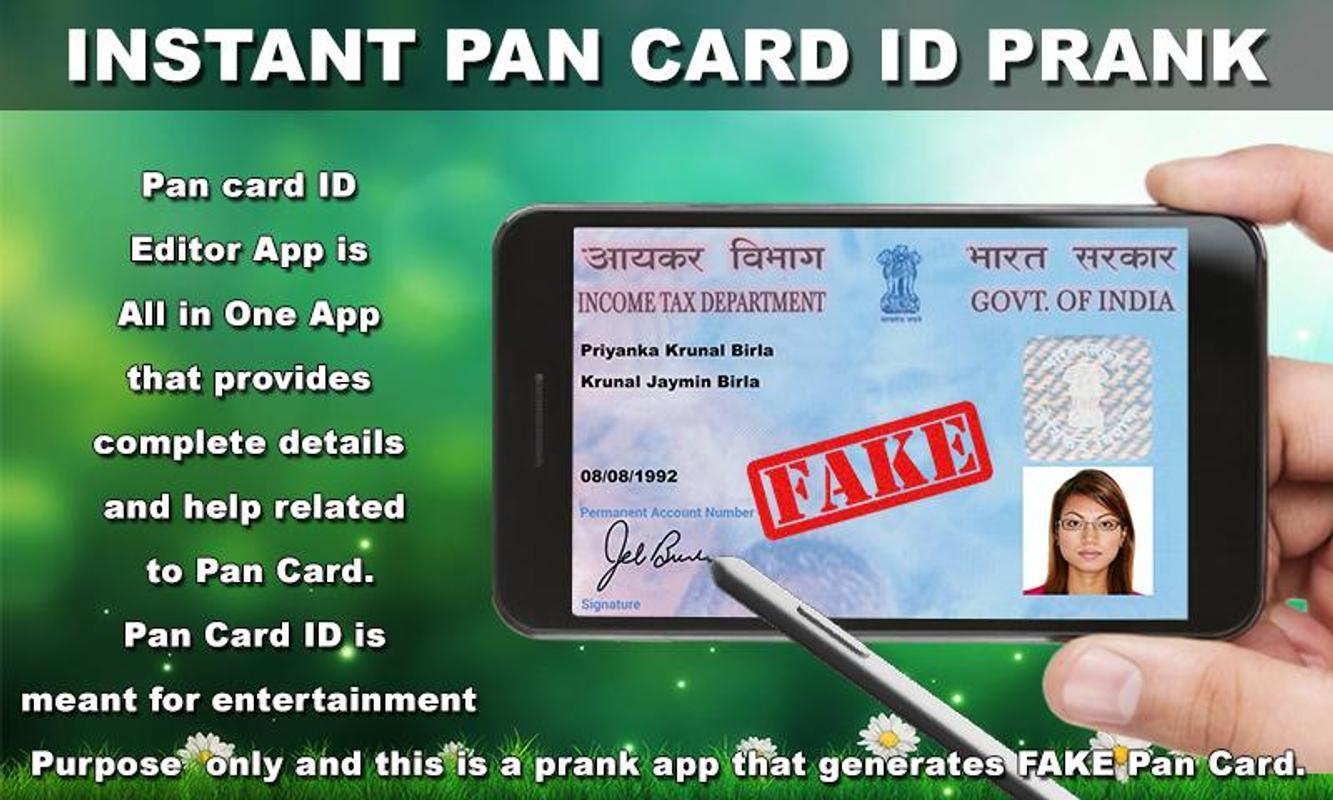 Instant Android Id Pan Download Maker Card For Prank - Apk