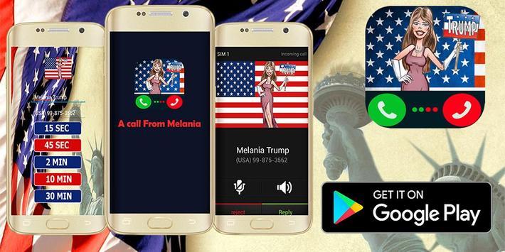 A Call From Melania - Prank apk screenshot