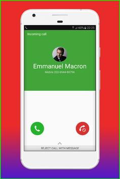 Fake Call Emmanuel Macron screenshot 2
