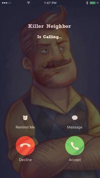 Fake Call Killer Neighbor poster