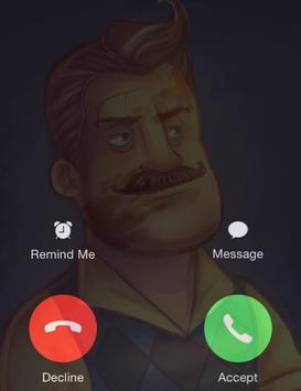 Fake Call Killer Neighbor screenshot 1