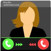تطبيق الاتصال الوهمي - دعوة وهمية icon