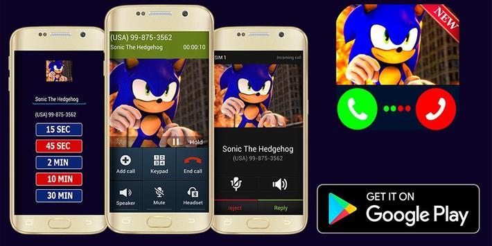 Call From Sonic - Prank poster